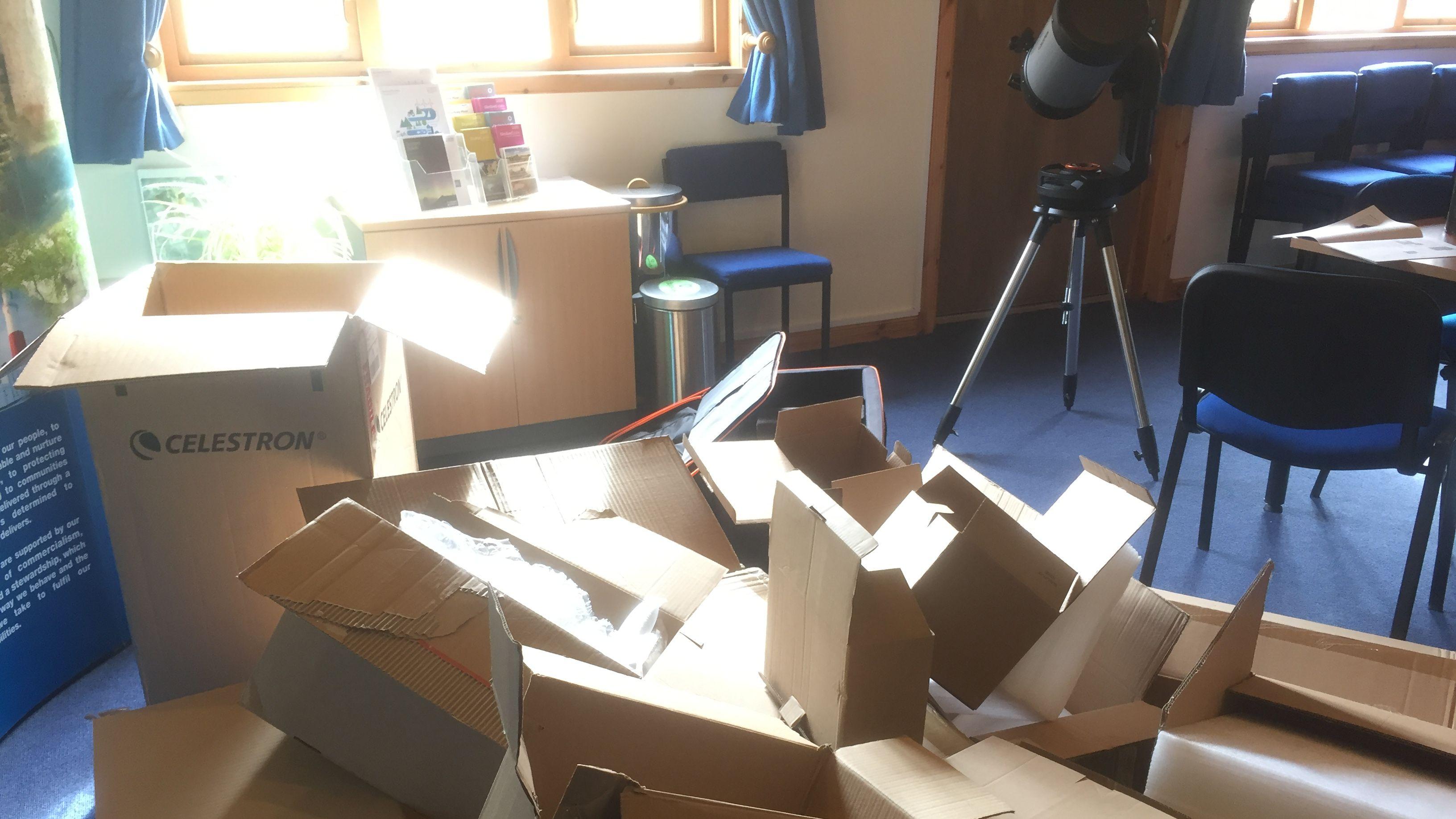 Unpacking the new Telescope